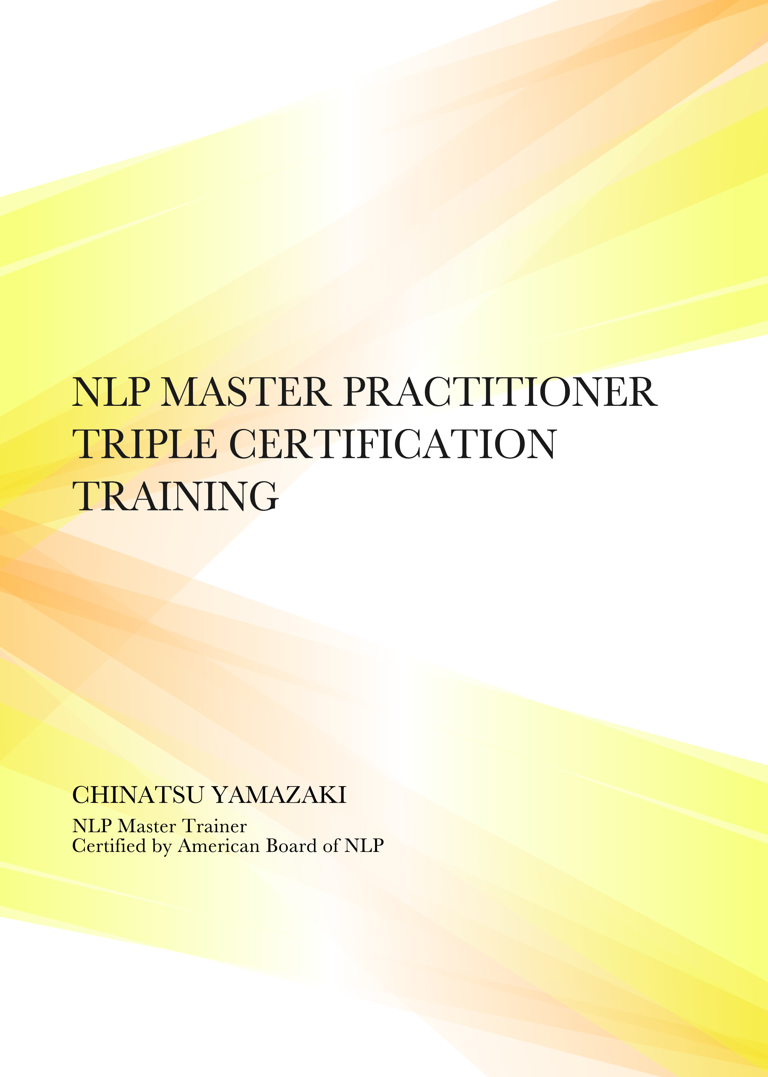 NLP Master Practitioner Certification Training